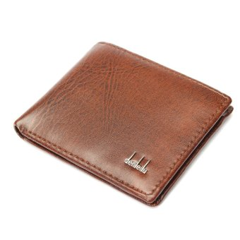 Soft Black Leather Wallet Bifold Credit Card Holder Purse Clutch Pockets Brown - Intl