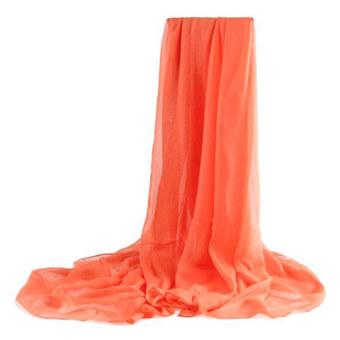 Moonar Women Chiffon Soft Scarves Long Wraps Shawl Beach Silk Scarf (Orange)