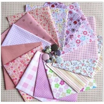 1pcs Fabric Cotton Patchwork Squares Quilting Floral Polycotton Craft Remnants - intl