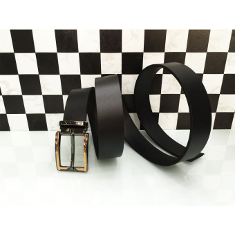 Dây lưng da thật nguyên miếng khóa kim, Đồ da Azado (đen)