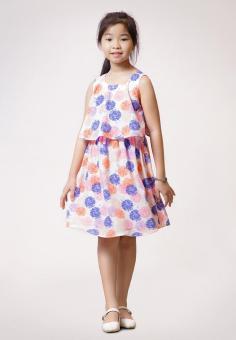 Đầm Hoa Tú Cầu Genii Kids (Hồng)