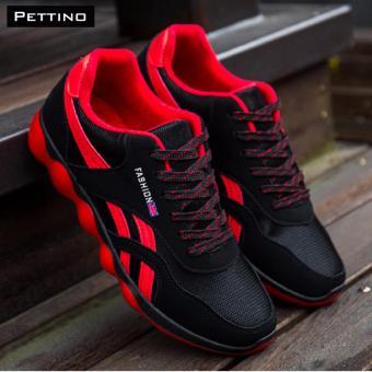 giày thể thao cao cấp - Pettino GT01 (đỏ đen)