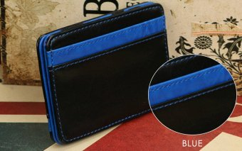 FLAMA Block Resilient Wallet Money Clip for Unisex Horizontal(Blue) - intl