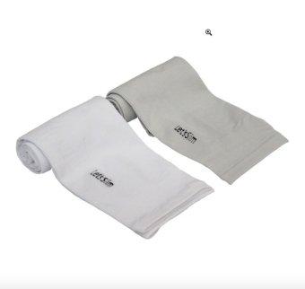 Bộ 2 đôi găng tay chống nắng xỏ ngón Aqua-X Let's Slim (Trắng - Xám)