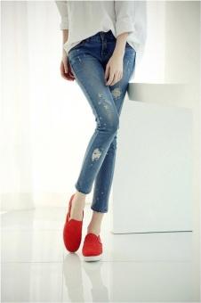Asia Size Stitch Skinny Jeans - intl