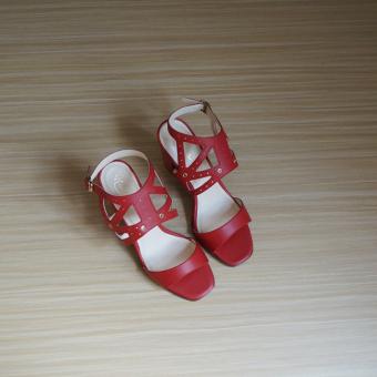 Giày sandal cao gót UNI 0714 (Đỏ)