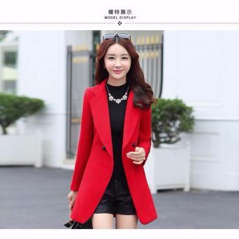 Áo khoác dạ nữ dáng dài ( Đỏ )
