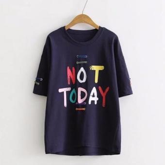 Áo Thun Nữ Tay Ngắn Not Today LTTA186 (Đen)