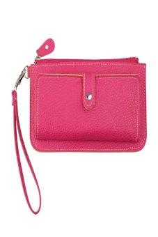 HKS Women Purse Long Mobile Wallet Hot Pink - intl