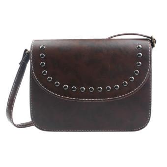 Women Handbag Shoulder Bags Tote Leather Women Messenger Hobo Bag Coffee - Intl