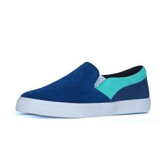 Giày Lười Slip-on QuickFree Lightly da bò Suede Nam M160201-000 (Xanh Navy/Xanh lá)