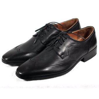 Giày tây viền chỉ cột dây Tathanium Footwear TFBKU0041 (Đen)