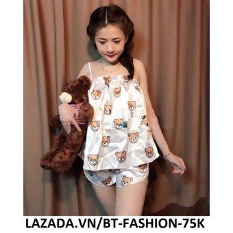 Đồ Bộ Phi Bóng - Ở Nhà, Đi Ngủ - BT Fashion DN006C (Gấu - Bèo Kem)