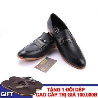 Giày tây nam công sở da thật Da Giày Việt Nam VNL1A804D + Tặng 1 đôi dép