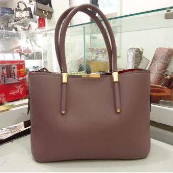 Túi nữ da cao cấp DaH2 TN9065 (màu hồng)