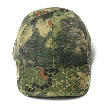Men Women Camo Caps Adjustable Velcro Military Hunting Fishing Army Baseball Hats - Intl