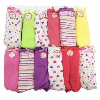Bộ 12 quần lót - quần chíp bé gái cotton Thái Lan