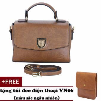 Túi đeo chéo nữ đa năng LATA HN32 (Bò nhạt)+ Tặng ví Vn06
