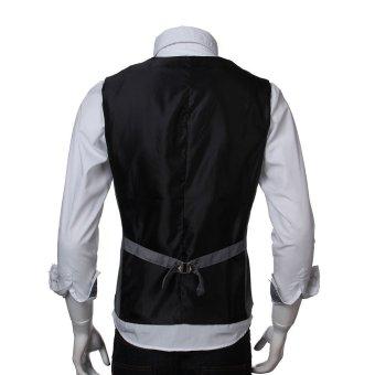 Fashion Men Casual Dress Skinny Stylish Fit Premium Waistcoat (Intl)