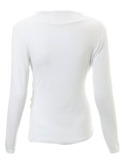 Sexy Women V-neck Stretch Slim Tee Shirt Blouse Front Cross Deep Top - Intl