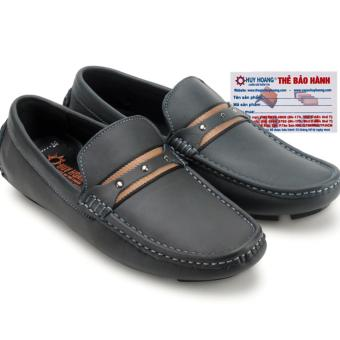 HL7773 - Giày mọi nam Huy Hoàng đế âm màu xanh đen