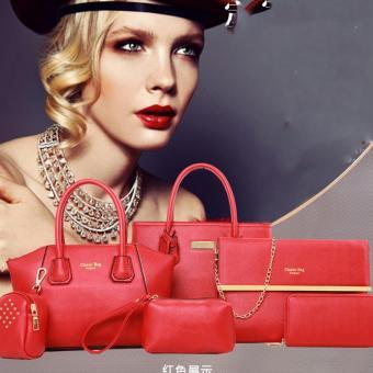 Bộ túi xách 6 món 1 dây da đeo chất liệu PU cứng da mịn -134