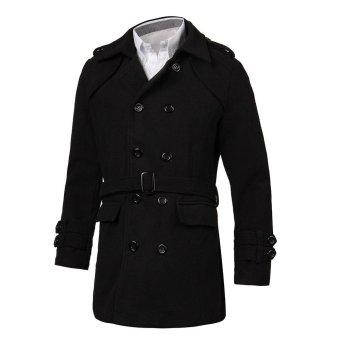 Fashion Manteau Men's Veste Casual Long Coat - Intl