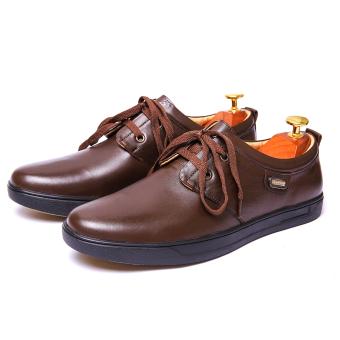 Giày tây nam Da Thật Cột dây Giày Da Miền Trung VCTMT04LZD51N-1 ( Nâu )