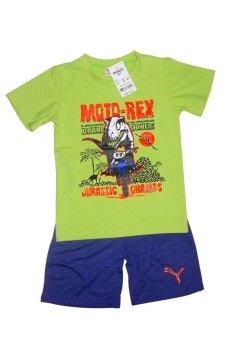 Bộ quần áo trẻ em Moto-Rex (Xanh lá)