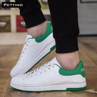giày nam thời trang 2017 - Pettino GV10 (trắng xanh)