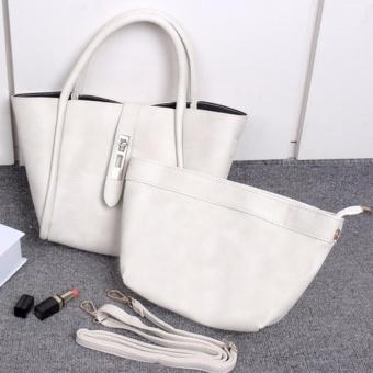 Womens Shoulder Bags Top-Handle Handbag Tote Purse Bag Set of 2 - intl