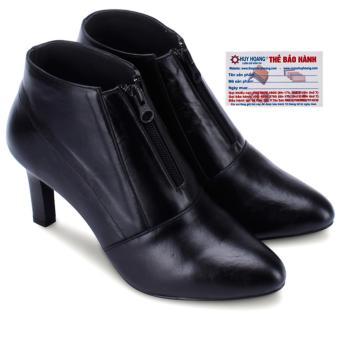 HL7037 - Giày bốt nữ Huy Hoàng có dây kéo màu đen