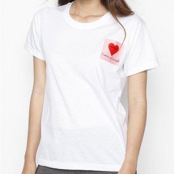 Áo thun nữ Love is Blind Suvi SuviTF0060 (Trắng)