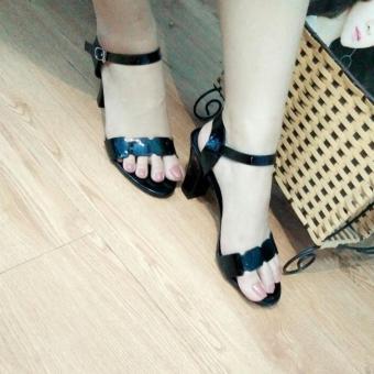 Giày sandal cao gót Mattino ( Đen )