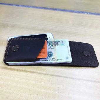 vi da nam đựng card và tiền nhỏ gọn