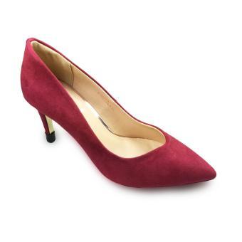 Giày bít nữ da lộn cao gót 8f