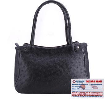 HL6408 - Túi xách tay da đà điểu Huy Hoàng màu đen