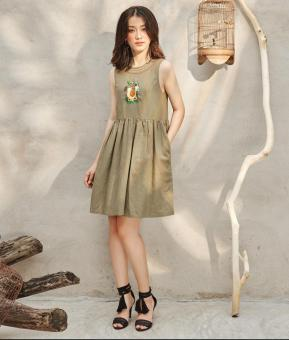 Đầm Ancona Linen Dress - AD160029