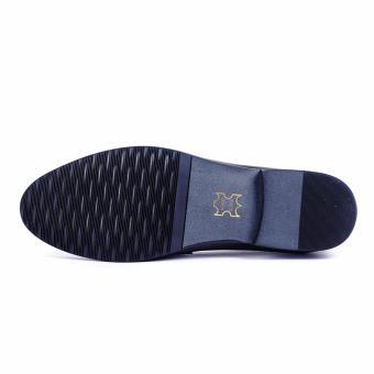 Giày tây nam da thật cao cấp Da Giày Việt Nam - VNLMT20VCT8D (Đen)