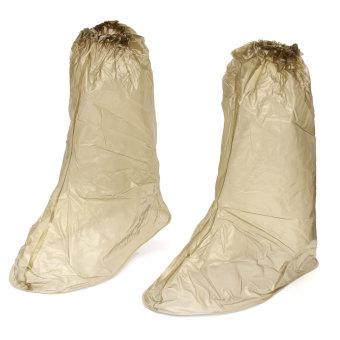 PVC Waterproof Shoe Covers Reusable Anti-slip Rain Boot Motorcycle Bike Overshoe XXL - Intl
