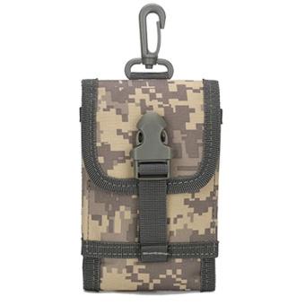 Unissex Outdoor Phone Bag Camouflage Belt Bag Hook Loop Mobile Package A - intl