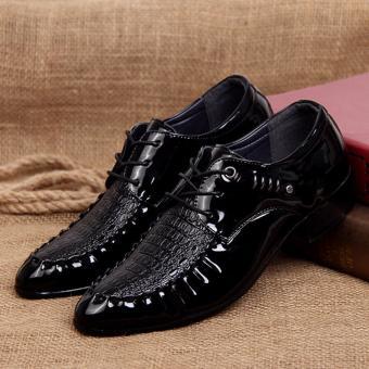 Giày lười nam công sở buộc dây da bóng