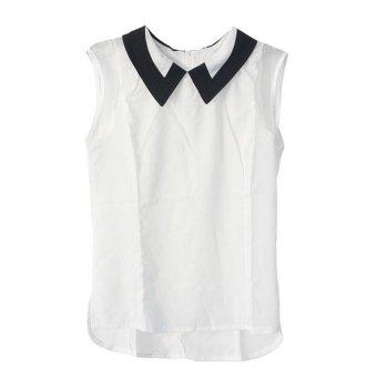 Women Summer Loose Casual Chiffon Sleeveless Vest Blouse Shirt Tops New - intl