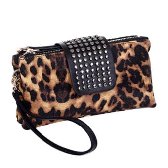 Rivet Clutch Bags Women Wallet PU Leather Evening Handbags Grain