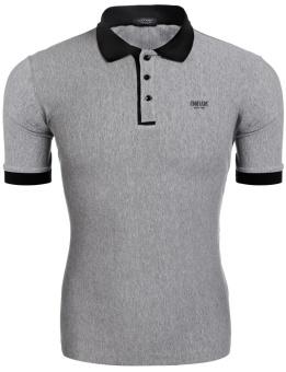 Sunwonder Men's O-Neck Mesh Short Sleeve Patchwork Zipper Casual T-Shirt ( Pink Blue ) - intl