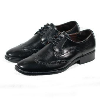 Giày tây đục lỗ mũi tròn Tathanium Footwear (Đen)