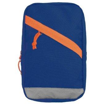 Unisex Men Women Nylon Big Capacity Casual Sports Travel Chest Bag Shoulder Sling Bag Money Phone Storage Bag Blue - intl