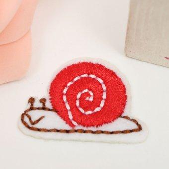 Frog Lotus Leaf Snail Cloud Iron On Sew Patch Cute Applique Badge Embroi Snails - intl