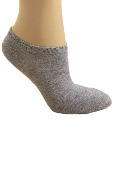 Bluelans Lady 1 Pair Ankle Socks Short Low Cut Crew Casual Sport Boat Socks Grey (Intl)