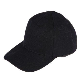 HKS Womens Men Sport Baseball Visor Cap Plain Blank Golf Ball Hat(Black) - intl